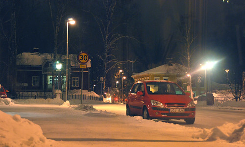sandviken by night.