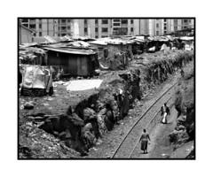 Slumming it. (tomtomtomharvey) Tags: africa bw photography travels nairobi slum tomharvey