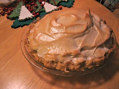 Chocolate cream pie with cinnamon meringue
