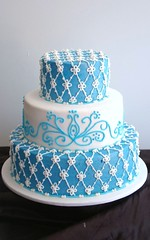 Natalie (Deliciously Decadent (Taya)) Tags: blue wedding white snow ice cake electric work aqua crystal pipe candels