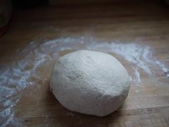 100% Sourdough Rye Bread - Dough kneaded after 5-minute rest