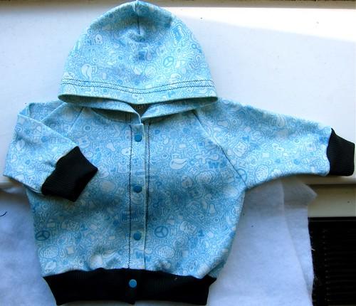 Blue Doodle Baby Hoodie