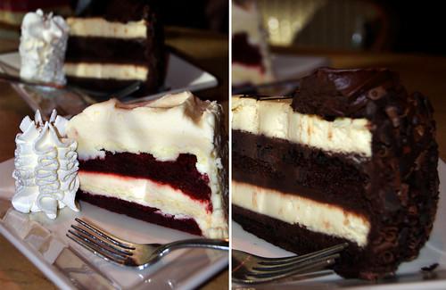 red velvet and 30 year anniversary cake