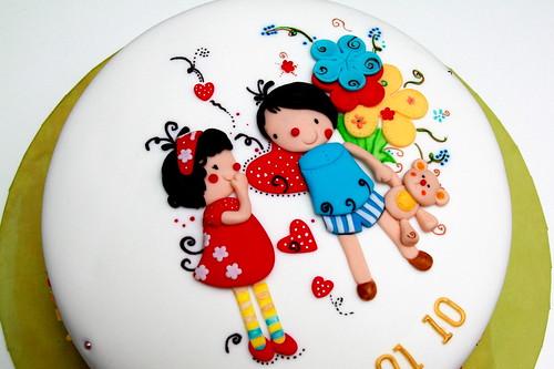 An artsy cake