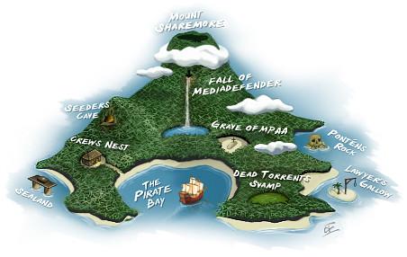 La imagen del jubileo de Pirate Bay