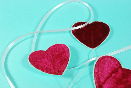 Valentines Crafts Velvet Hearts
