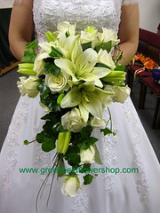 White Lily and Rose Bridal Bouquet