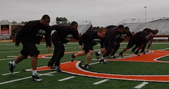 D-Line Takeoff Drill (J-Rob89) Tags: university line campbell defensive