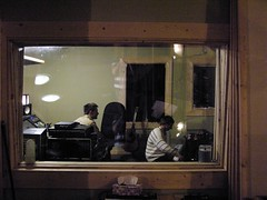 View into the control room (ryland.haggis) Tags: studio drums raw bc bass drummer recording sessions abbotsford recordingstudio bassplayer electricbass rylandhaggis colinbullock samheard