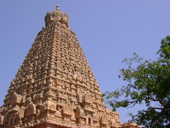 The gopuram of Tanjore Brahadeeswara temple.