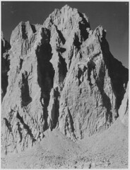 """""""Mt. Winchell, Kings River Canyon (Proposed as a national park),"""" California, 1936. (vertical orientation) (The U.S. National Archives) Tags: california bw anseladams usnationalparkservice mountwinchell usnationalarchives kingsrivercanyon nara:arcid=519923"""