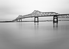 Foggy River (Bruce Bordelon) Tags: bridge bw abandoned rain fog 30 contrast port silver river mississippi rouge pier high nikon louisiana long exposure filter pro d200 baton seconds horace density wilkinson neutral efex 10stop nd1000