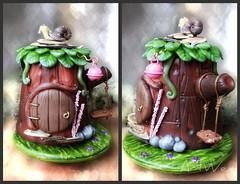 Casita para las hadas de Lorena (ArtWen) Tags: casa fairies hadas magia porcelanafria artwen