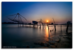 Chinese Fishing Nets (DanielKHC) Tags: light sunset sea india net digital interestingness high fishing nikon long exposure dynamic fort chinese kerala 63 explore range fp frontpage cochin hdr kochi blending d300 nd400 danielcheong bratanesque danielkhc tokina1116mmf28