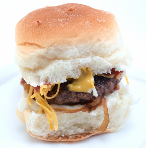 Caramelized Onion and Bacon Sliders