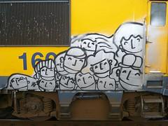 AMF Loc50040 (oerendhard1) Tags: streetart train graffiti tag vandalism locomotive spraypaint piece aerosol railways trein traingraffiti paintedtrains railart europeansteel dutchdamage