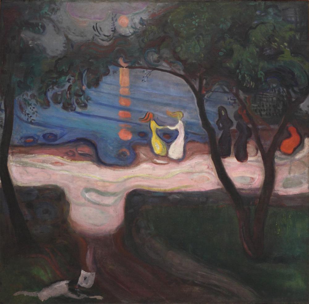 Edvard Munch, Dancing on a Shore, 1900