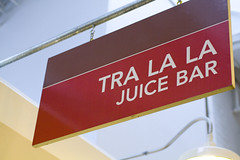 Tra La La Juice Bar Sign