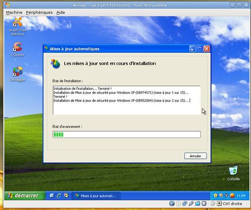 La deuxième vague de mises à jour de Windows XP-SP3
