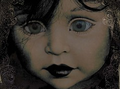 gothic doll (Mara ~earth light~) Tags: texture photoshop mouth eyes doll play gothic creativecommons intuition ourtime flickrbestpics photoshopcreativo artistictreasurechest photographymypassion mara~earthlight~