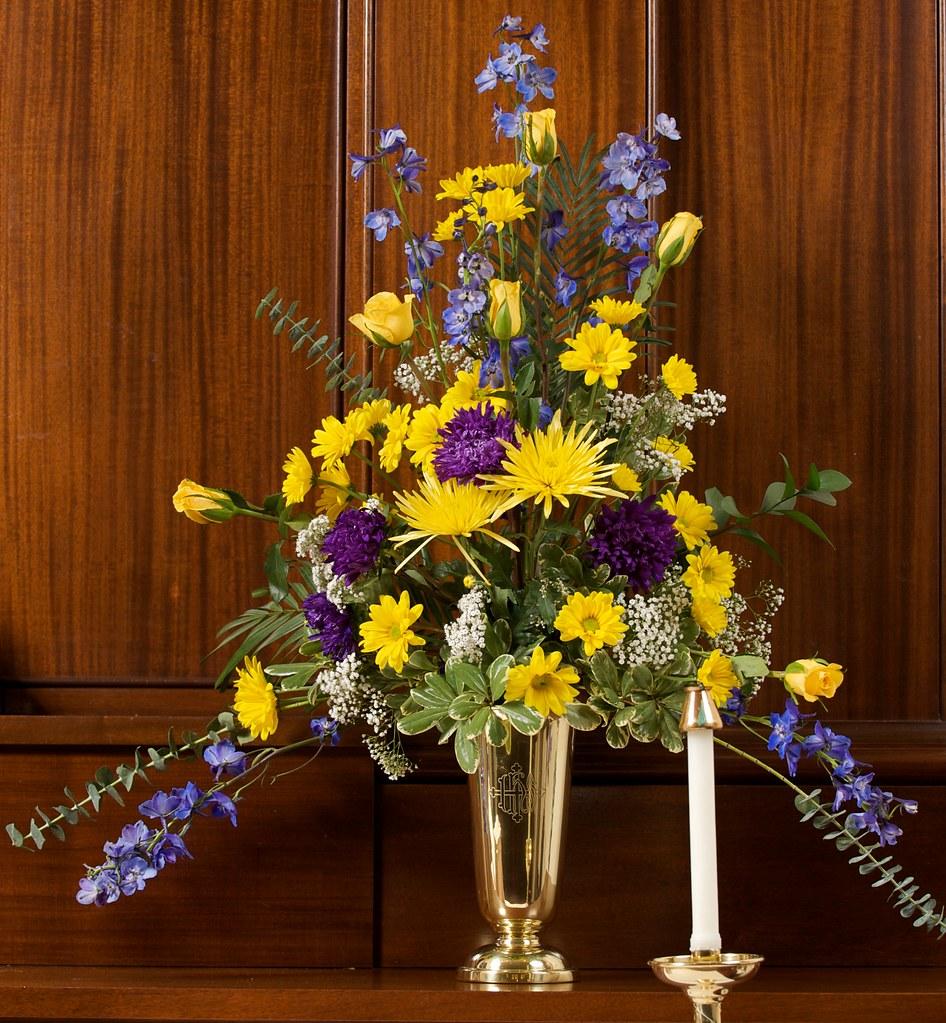 Wedding Flower Arrangement, Saint James Church