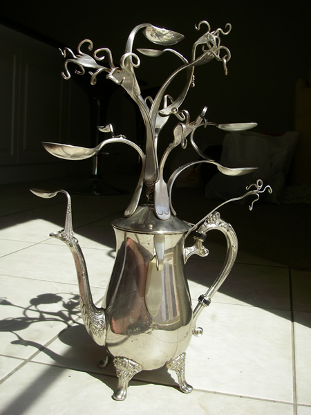 Teapot jewellery/jewelry tree 2