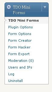 Menu TDO Mini Form
