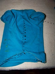 How to make a pet shirt from a baby shirt 8