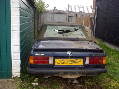 BMW apline wrecked car