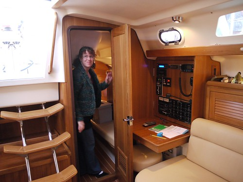 More than any other boat that we toured, the interior layout of the Catalina ...