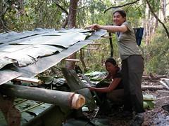 Playing house (thirtyoneteeth) Tags: trekking thailand bamboo pai bananaleaves flybutter sgoralnick mrchart