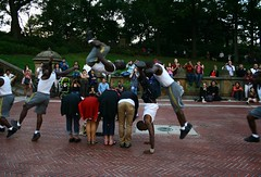 jump (Cristian Marchi) Tags: show park street nyc parco ny geotagged jump mask state central exhibition empire salto perform sequence bethesda geotag tutorial maschera actionshot rectilinear hugin pubblica esibizione