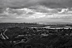 50/365:  San Diego (peaflockster) Tags: blackandwhite panorama storm project raw sandiego 365 mtsoledad