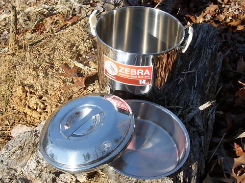 Zebra 14cm Stainless Pot