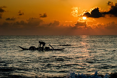 Gone Fishing (knowsnotmuch) Tags: sea beach birds clouds sunrise boat fisherman 23 kovalam 3570 monthiversary explored