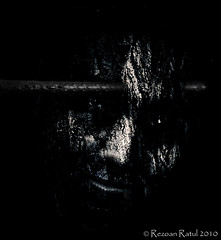 Scenes From A Memory.. (Rezoan Ratul) Tags: lighting portrait eye weird scary key darkness time head low dream evil lips wicked rod pierce stick nightmare cracked creep penetrate ratul rezoan rezoanratul ttlpod330