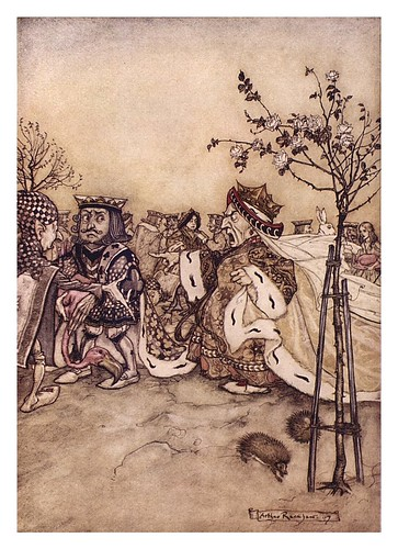 009-Mock turtle's story-Alice's adventures in Wonderland-1907- Arthur Rackham