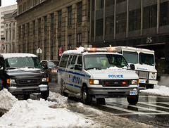 NYPD Van waits for a Guest (Diacritical) Tags: newyorkcity snow brooklyn truck lights police nypd 40mm van arrest 2470mmf28 d700