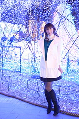 day160-12 green+white in xmas caretta shiodome (Yumiko Misaki) Tags: christmas white green ar knit twin skirt xmass cardigan shiodome day158 caretta