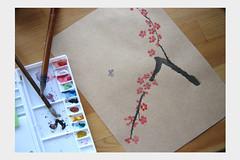 plum blossom print