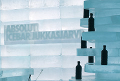 Absolut(e) Zero (Banana Muffin (Antonio)) Tags: life blue white snow black cold ice glass night reflections dance cool nikon drink sweden enjoy lapland vodka icebar keywords kiruna zero icehotel absolute jukkasjrvi d300