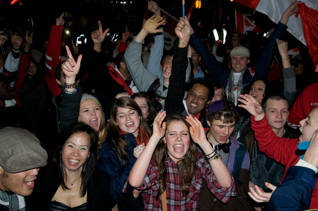 Party in the Streets After Canada Wins Gold in Hockey