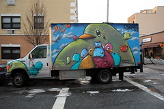 cern/ymi truck (Luna Park) Tags: nyc cats streetart ny newyork birds brooklyn truck graffiti cern williamsburg lunapark ymi cekis