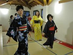 Le Maestre alla lezione di danza giapponese nihon buyo
