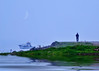Emptiness (E.L.A) Tags: blue sea moon nature turkey foggy ab scene istanbul crescentmoon mistyday nikond80 saariysqualitypictures mygearandmepremium