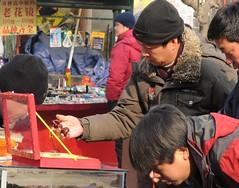 WangfuJing Street, Beijing (IvanWalsh.com) Tags: china red pet signs bird art shopping market tea flag beijing insects cage shops characters shoping beijjing macdonadls