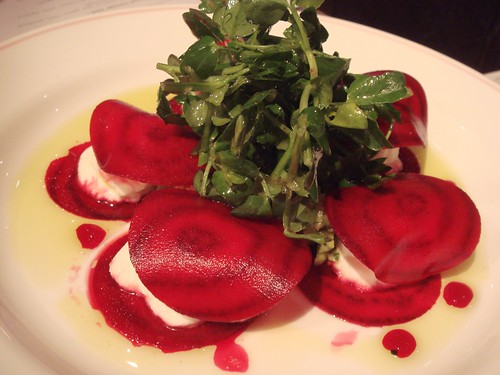 Wafer Thin Pickled Beetroot and Goats Cheese Salad