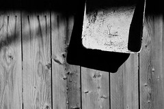 shadow (Barbara.K) Tags: wood shadow blackandwhite abstract texture lines fence tamronaf18200mmf3563 eos500d canonrebelt1i