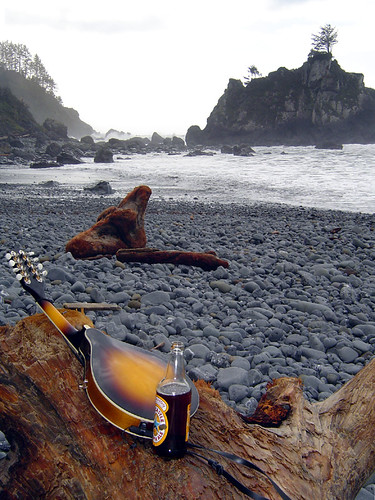 Mandolin with Newcastle Brown Ale, Hidden Beach