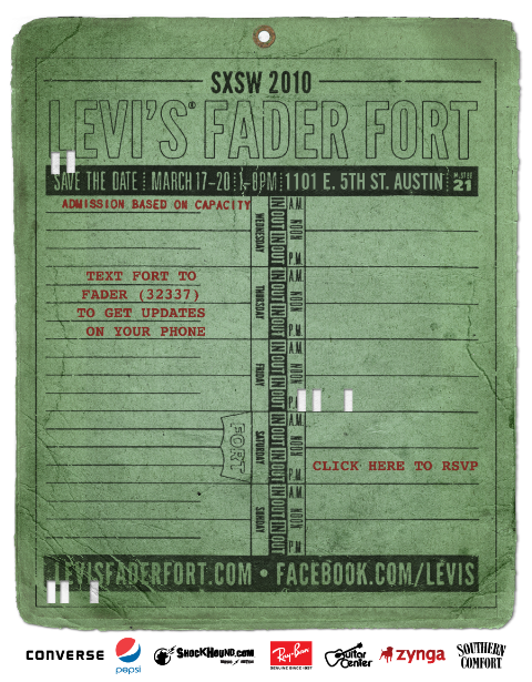 Levi's Fader Fort - SXSW 2010